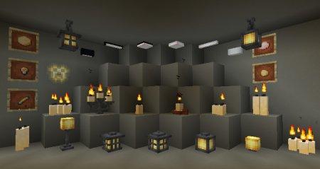 Extended Lights – мод на лампы, свечи и светильники для Minecraft 1.14.4