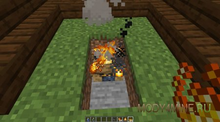 Положите на него огненный порошок на ПКМ