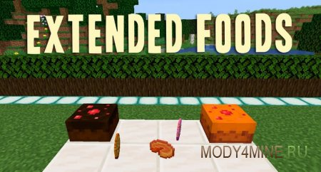 Extended Foods – мод на еду для Minecraft 1.14.4