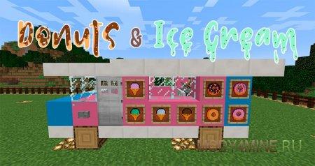 Donuts & Ice Cream – мод на пончики и мороженое для Minecraft 1.12.2