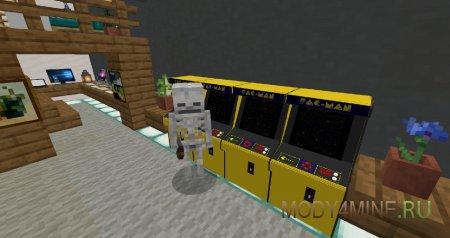 Скелет рубится в Pac-Man