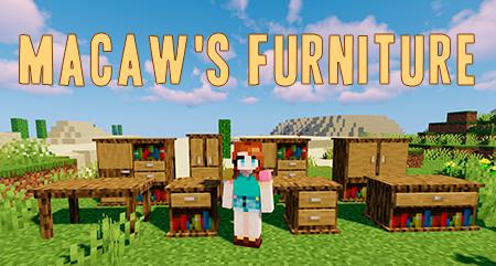 Macaw's Furniture – мод на мебель для Minecraft 1.12.2/1.14.4/1.15.2
