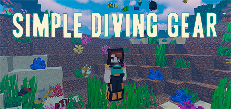 Simple Diving Gear – мод на акваланг для Minecraft 1.15.2/1.14.4/1.13.2/1.12.2