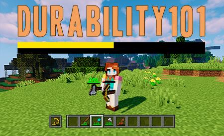 Durability101 – мод на показ прочности вещей для Minecraft 1.12.2-1.15.2