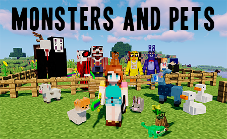 Monsters and Pets – монстры и питомцы в Minecraft 1.12.2