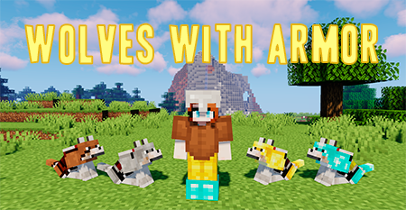 Wolves With Armor – волки в броне в Minecraft 1.15.2 [Fabric]