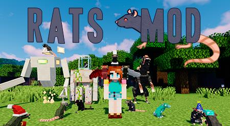 Rats – мод на крыс для Minecraft 1.12.2, 1.14.4 и 1.15.2