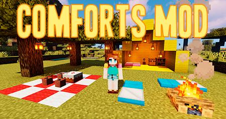 Comforts – мод на спальные мешки и гамаки для Minecraft 1.12.2, 1.13.2, 1.14.4, 1.15.2, 1.16.5 и 1.17.1